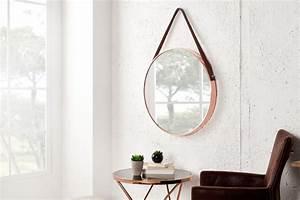 Großer Spiegel Ohne Rahmen : gro er runder design spiegel portrait 45 cm kupfer braun ~ Michelbontemps.com Haus und Dekorationen