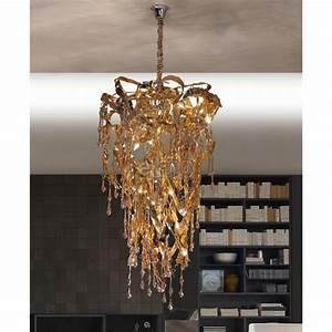 Lustre Cristal Moderne : grandiose lustre suspension design moderne m tal et cristal sculpture ~ Teatrodelosmanantiales.com Idées de Décoration