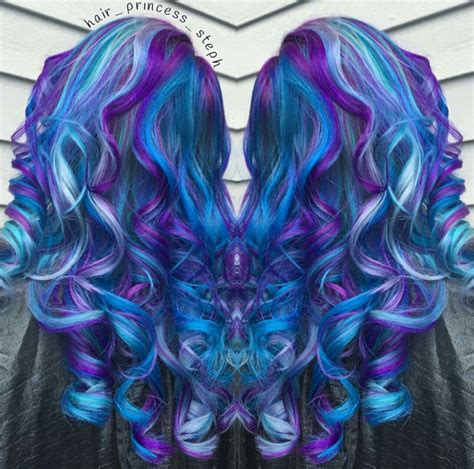 Vibrant Royal Blue And Purple Dyed Hair Mix Hairprincess
