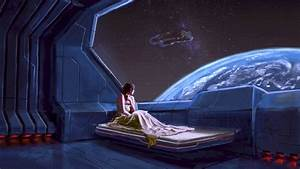 Beds Illustrations Outer Space Planets Science Fictio