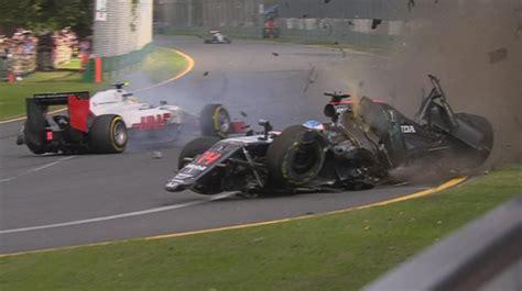 alonso escapes frightening albert park crash speedcafe
