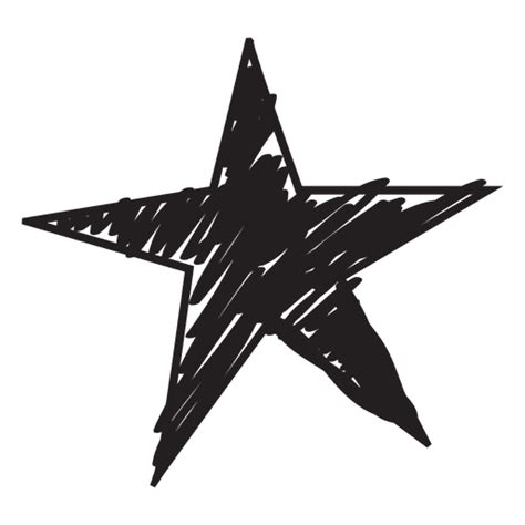 Star hand drawn icon 56 Transparent PNG & SVG vector file