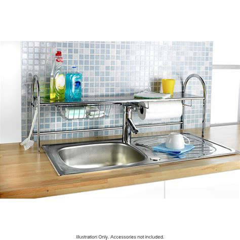 sink shelves kitchen kitchen roll sink tap storage tidy holder 2276