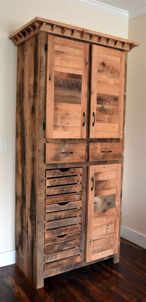 free standing kitchen pantry cabinet reclaimed barnwood pantry cabinet diy home improvements 6720