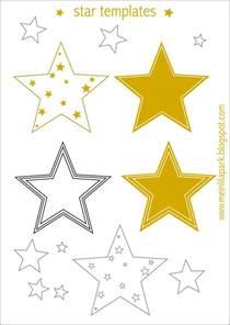free printable star templates 16 last minute diy christmas decorations