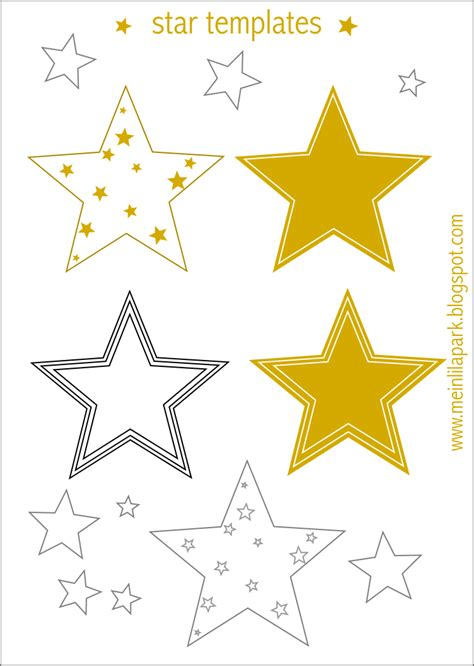 printable star templates   minute diy
