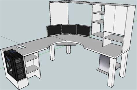 how to make a corner computer desk blkfxx 39 s computer desk build home office pinterest