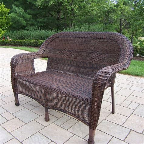Resin Loveseat Patio Furniture by Oakland Living Resin Wicker Outdoor Loveseat With Coffee