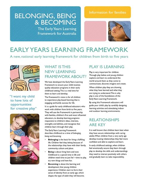 belonging     early years learning