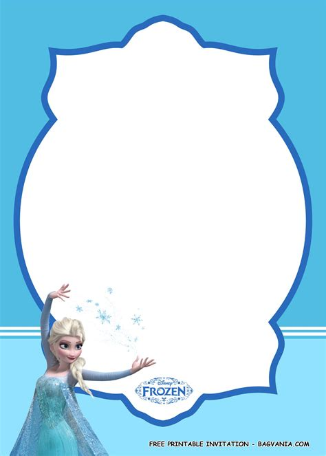 printable amazing frozen birthday party kits bagvania