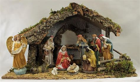 christmas crib nativity set   resin figures gloria