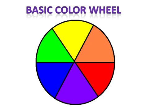 basic color wheel diy basic colors and