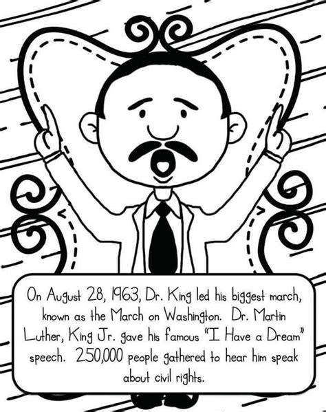 martin luther king jr coloring page free printable martin luther king jr day coloring pages