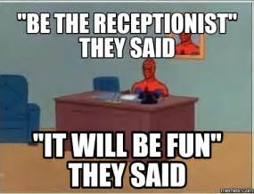image gallery receptionist meme