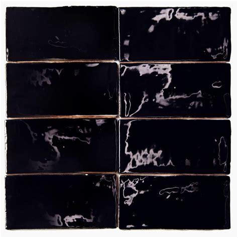 black ceramic tile home depot splashback tile catalina black 3 in x 6 in x 8 mm ceramic wall subway tile catalina3x6black