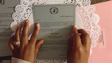 diy doily wedding invitation invitation directions youtube