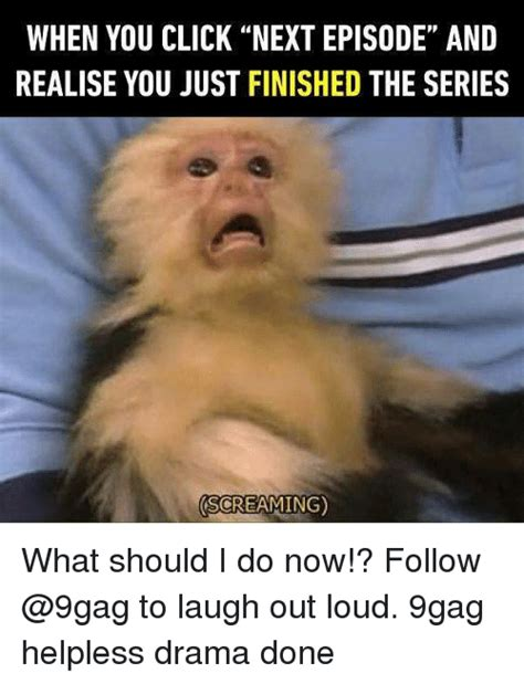 Laugh Out Loud Meme - when you click next episode anid realise you just finished the series screaming what should i do