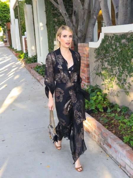 Emma Roberts Sheer Dress - Fashion Lookbook - StyleBistro