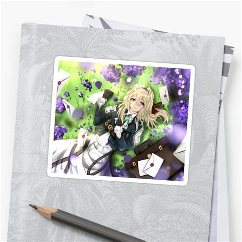 violet evergarden sticker by khunagero redbubble