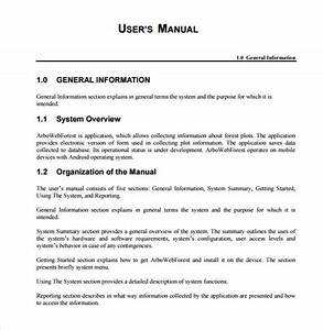 10 sample user manuals sample templates for User manual document template