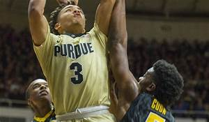 Purdue guard Carsen Edwards (3) puts up a shot over Iowa ...
