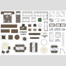 2d Furniture Floorplan View Style3 3d  Cgtrader