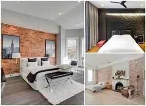 idee deco chambre mur brique 091136 gtgt emihemcom la With idee de plan de maison 11 les briques de parement et les briques apparentes