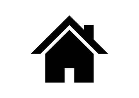 home icon black and white home icon vector free icons