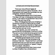 Limited & Unlimited Government By Mr Mo  Teachers Pay Teachers