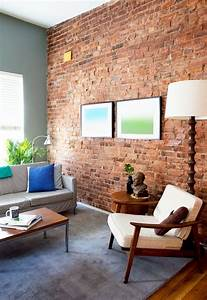 59, Cool, Living, Rooms, With, Brick, Walls