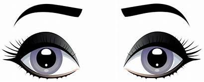 Eyes Clipart Clip Eyebrows Grey Female Eye