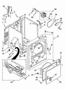 Cabinet Parts Diagram  U0026 Parts List For Model Wgd5300sq0 Whirlpool