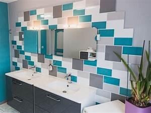 salle de bain blanc gris bleu home design nouveau et With salle de bain bleu blanc gris