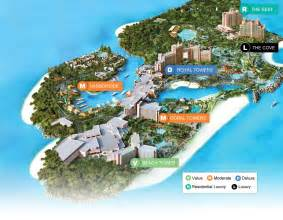 Atlantis Paradise Island Resort Map