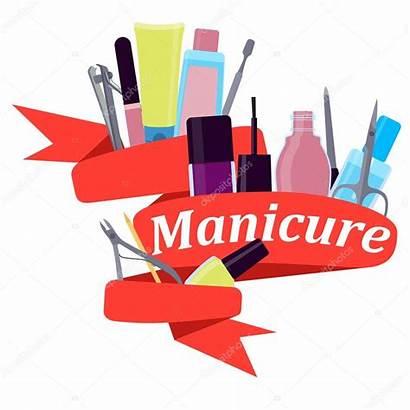 Manicure Tools Vector Illustration Ribbon Depositphotos