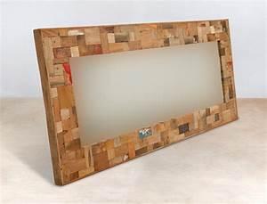 Miroir 160 Cm : miroir 160cm encadrement en bois recycl s industryal ~ Teatrodelosmanantiales.com Idées de Décoration