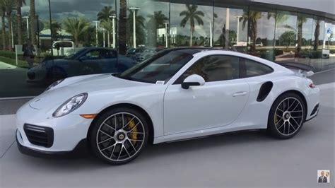 white porsche 911 turbo 2017 carrara white porsche 911 turbo s 580 hp porsche