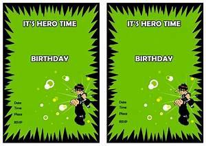 Make An Invitation Ben 10 Birthday Invitations Birthday Printable