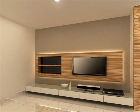 Decorating Ideas Tv Consoles by Backlit Tv Console Design Family Room Tv Wall Design