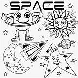 Coloring Pages Moon Printable Drawing Satellite Preschool Theme Star Super Spaceship Rover Range Natural Lunar Graphics Space Activities Sun Clip sketch template