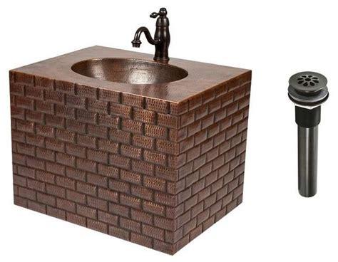 Copper Wall Mount Vanity Combo-rustic-bathroom