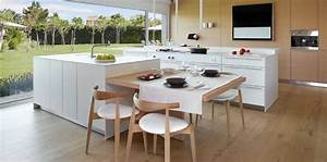 photo de cuisine avec ilot design central 2017 et table With table ilot cuisine centrale