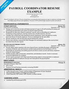 Project Coordinator Cover Letter Payroll Coordinator Resume Sample Resumecompanion Com