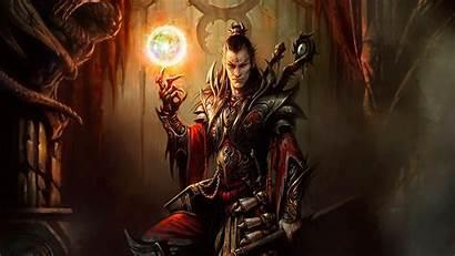 Diablo Wizard Sorcerer Armor Fantasy Male Magic
