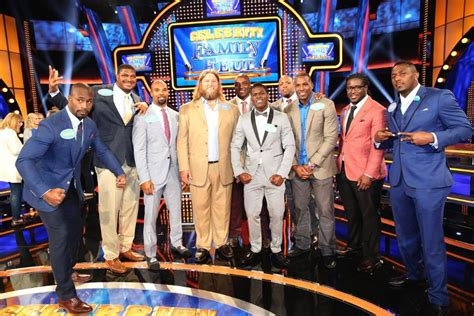 celebrity family feud featuring nfc  afc players