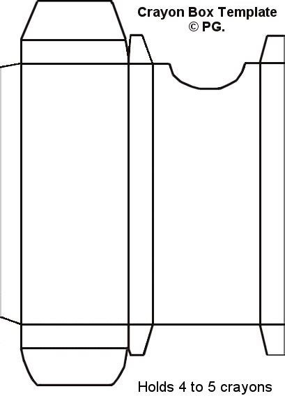 Crayon Template Crayon Box Template I Made Paper Craft Templates By Pam