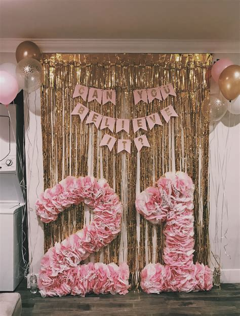 Diy Backdrop Decorations by Diy Tissue Paper Numbers White And Pink Tissue Glued