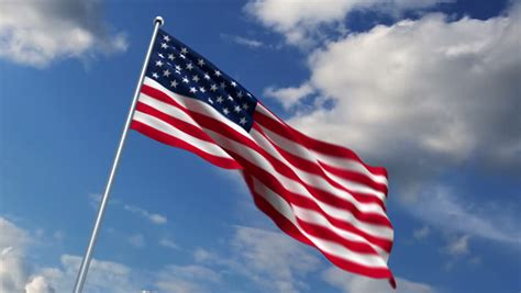 Animated American Flag Wallpaper - american flag background stock footage
