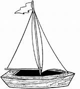 Coloring Yacht Boat Popular sketch template