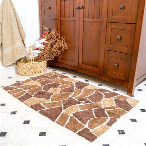 chesapeake boulder pc brown bath rug set